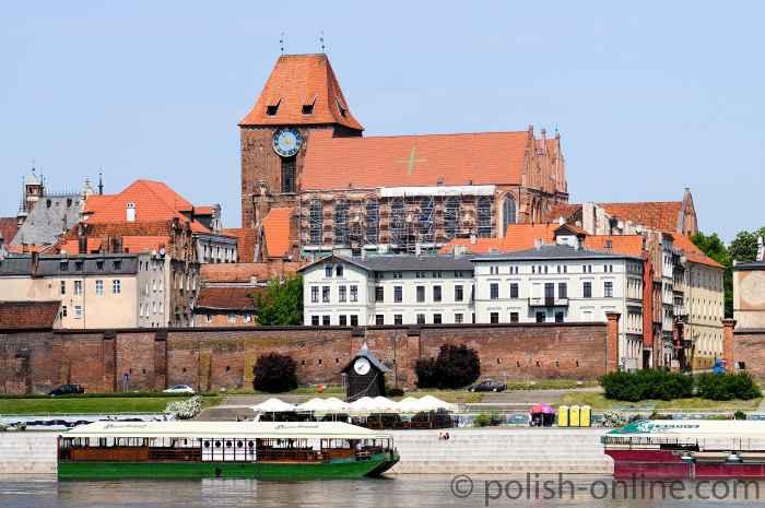Blick über die Weichsel auf die Thorner Altstadt