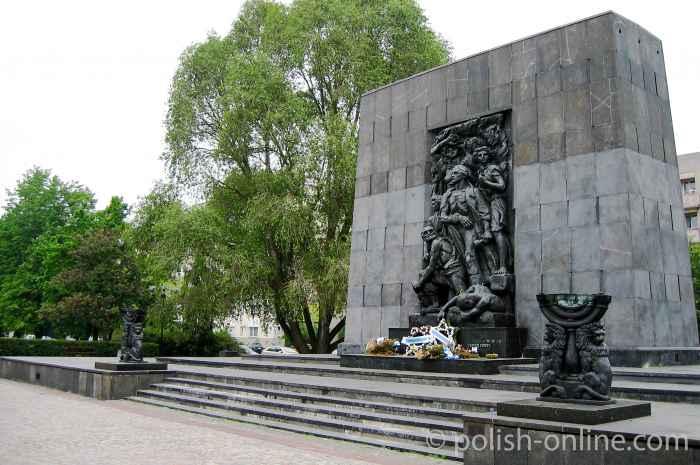 Ghettodenkmal in Warschau