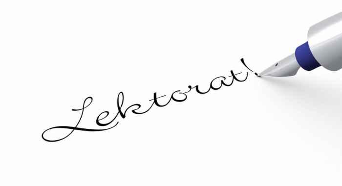 Schriftzug Lektorat - Lektorat Übersetzungen Polnisch-Deutsch