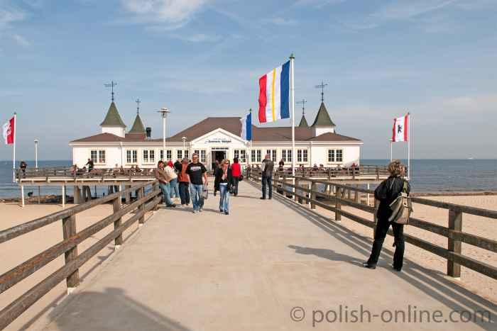 Historische Seebrücke in Ahlbeck auf Usedom
