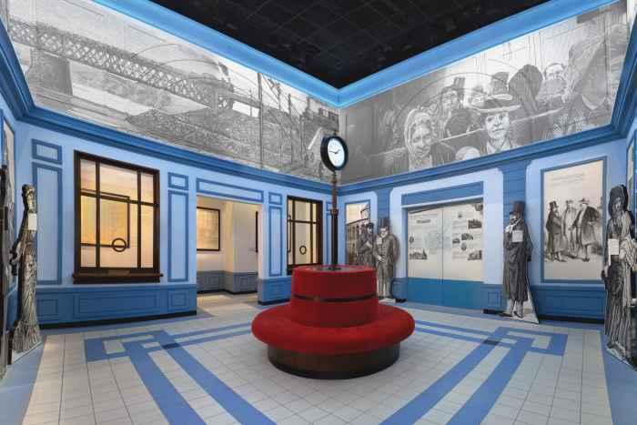 Ausstellungsraum im Museum der Geschichte der polnischen Juden in Warschau