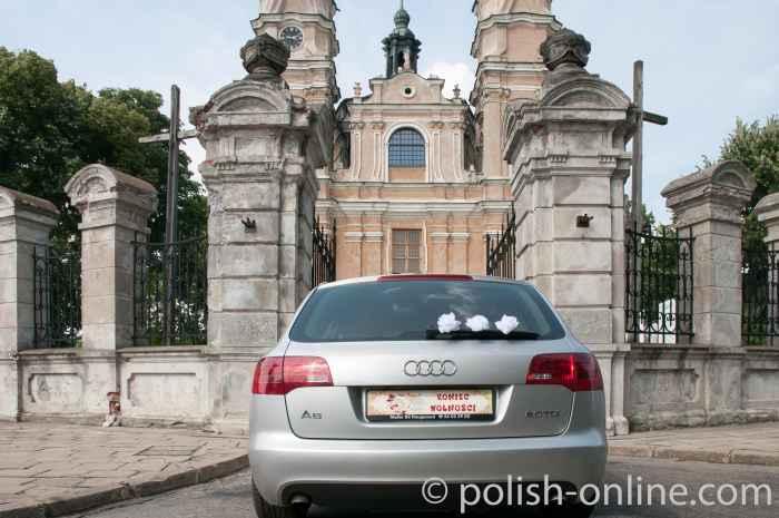 Hochzeitsauto in Włodawa (Polen)