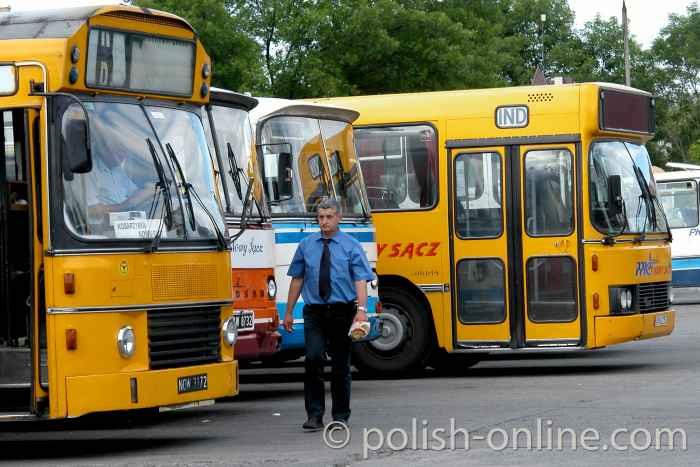 Busbahnhof in Nowy Sącz