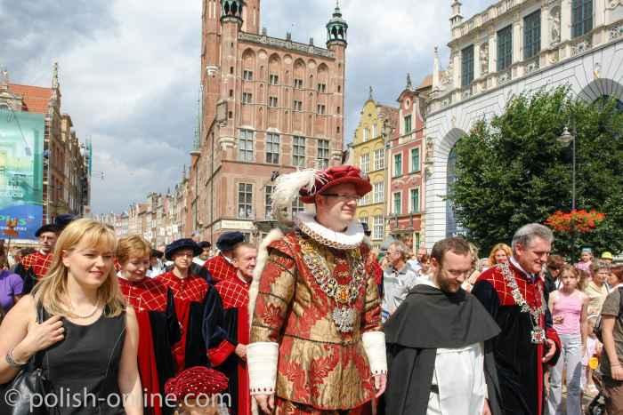 Eröffnung des Dominikanermarktes durch den Stadtpräsidenten von Danzig