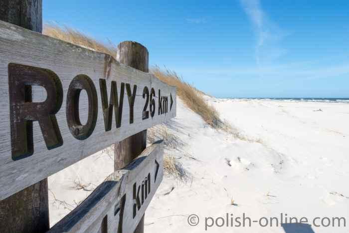 Wegweiser nach Rowy
