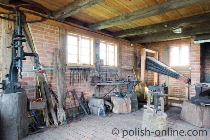 Innenraum einer alten Schmiede