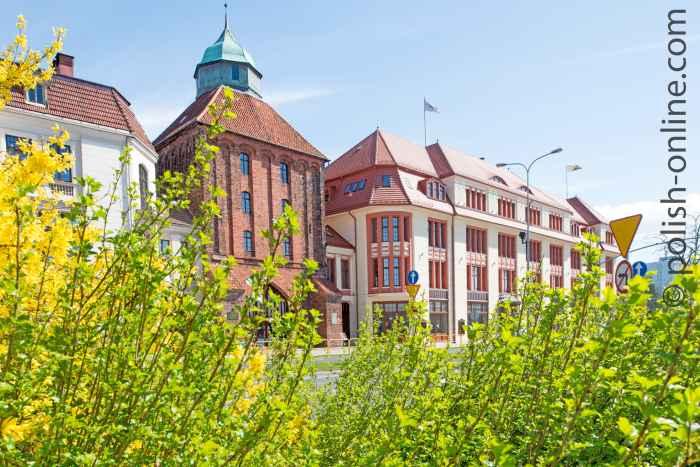 Das Neue Tor und das ehemalige Kaufhaus Zeeck in Stolp (Słupsk)