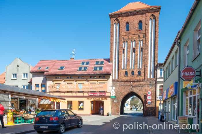 Das Hohe Tor (Brama Wysoka) in Rügenwalde (Darłowo)