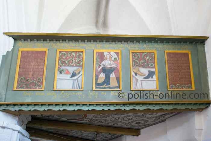 Malereien des Schusterchores in der St.-Gertrud-Kirche Rügenwalde (Darłowo)