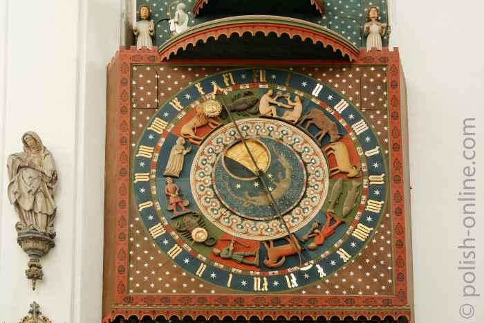Astronomische Uhr in der Marienkirche Danzig