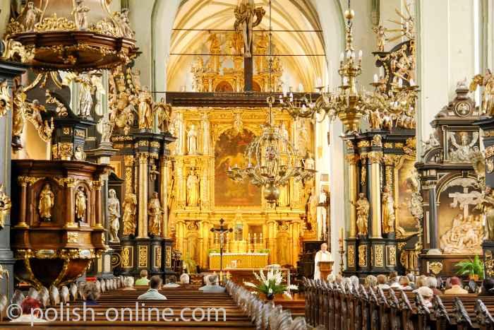Kirchenschiff der Nikolaikirche in Danzig