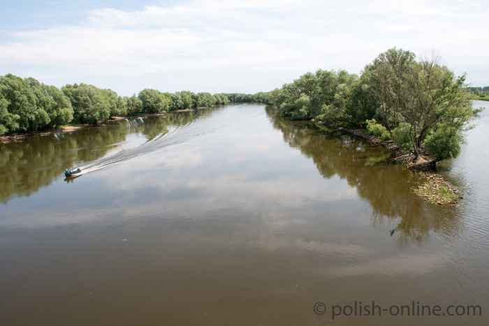 Postomia fließt bei Küstrin (Kostrzyn) in die Warte