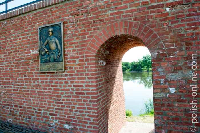Gedenktafel für Hans Hermann von Katte in Küstrin