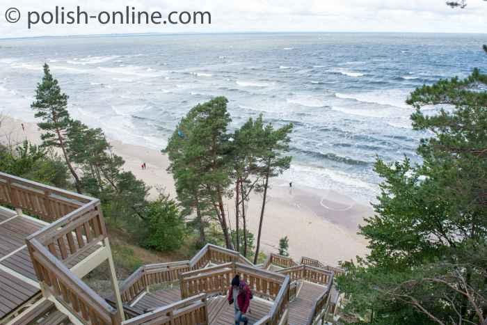 Treppe an der Steilküste in Misdroy Polen