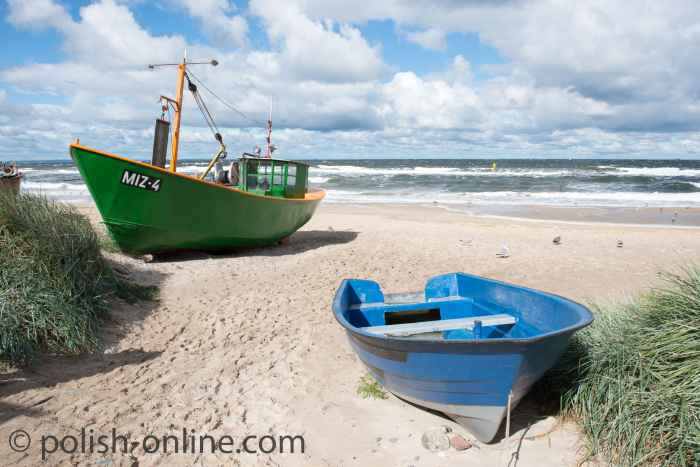 Fischerboote in Misdroy