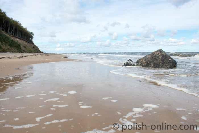 Strand und Steilküste auf der Insel Wollin (Wolin)