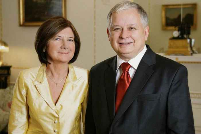 Das Präsidentenpaar Maria und Lech Kaczyński