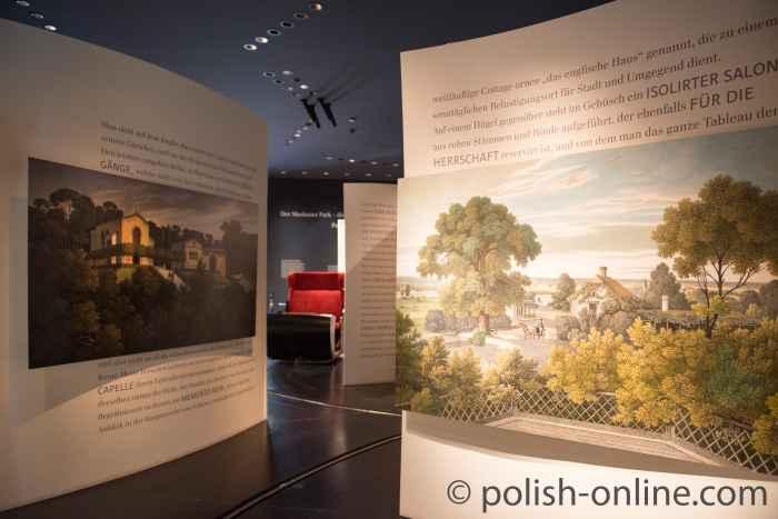 Informationstafeln im Museum Bad Muskau