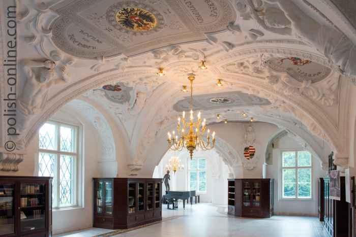 Foto vom Rittersaal Schloss Bad Muskau