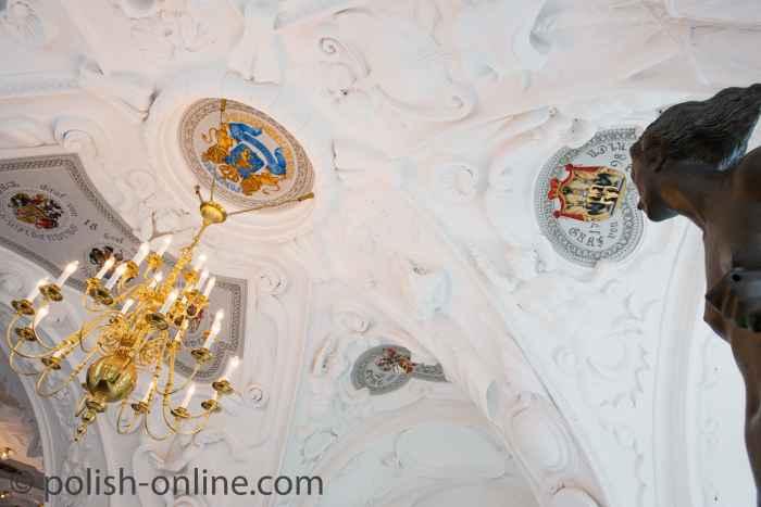 Stuckdecke im Rittersaal