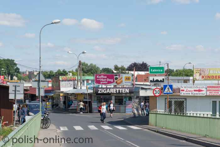 Polenmarkt in Łęknica bei Bad Muskau