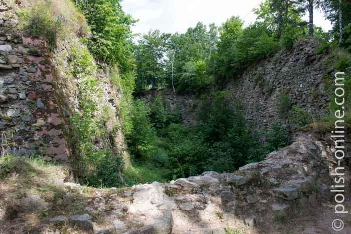 Verfallene Mauern Festung Silberberg (Twierdza Srebrnogórska)