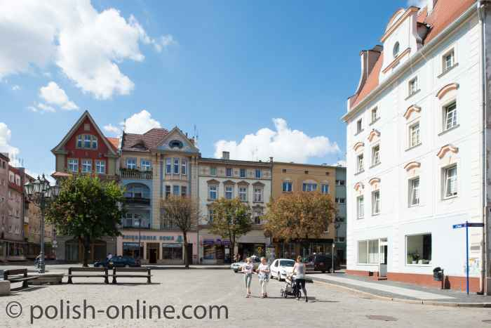 Markt in Brieg (Brzeg)