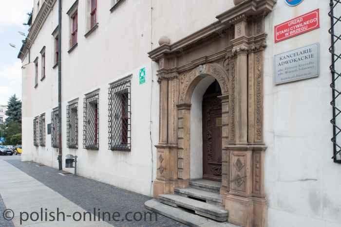 Renaissanceportal des Rathauses von Brieg (Brzeg)