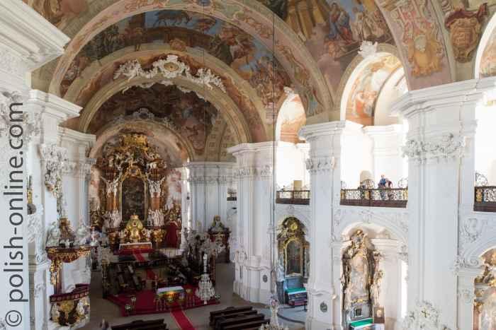 Innere der Abteikirche Kloster Grüssau