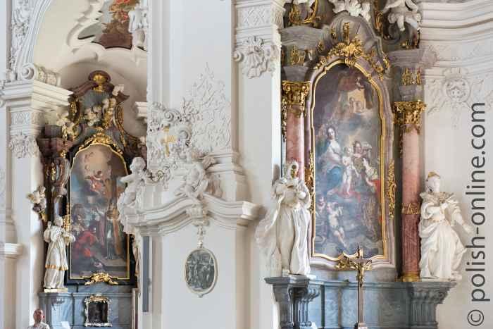 Seitenkapellen in der Abteikirche Grüssau in Niederschlesien