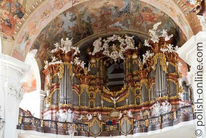 Orgel in der Kirche Mariä Himmelfahrt im Kloster Grüssau