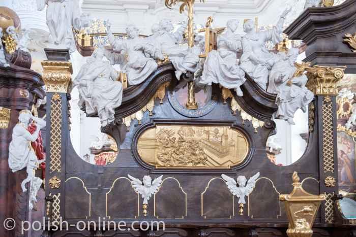 Fragment des Chorgestühls im Kloster Grüssau