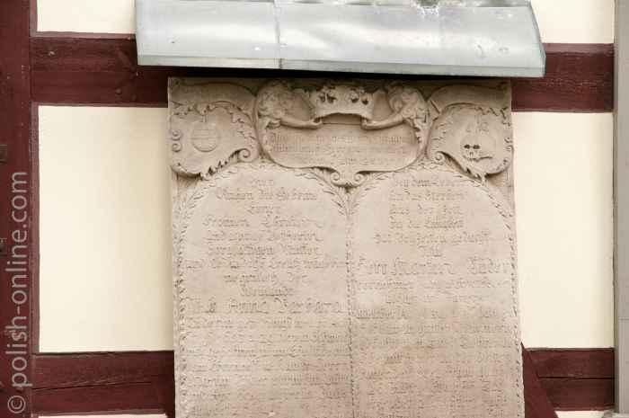 Grabplatte Friedenskirche Jauer (Jawor)