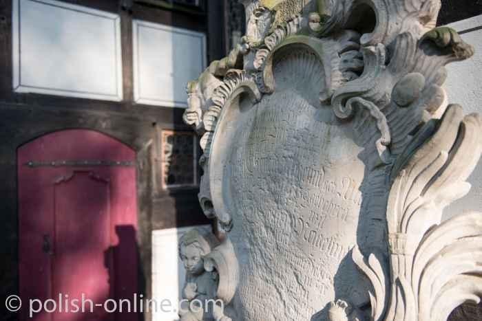 Grabplatte an Schweidnitzer Friedenskirche