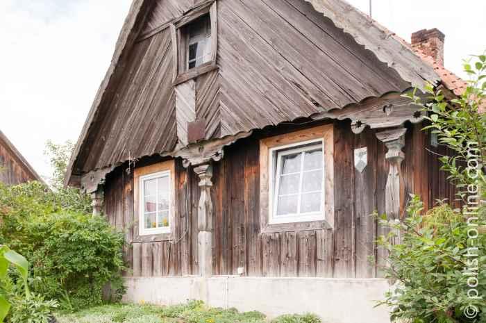 Holzsäulen in Liebenberg Masuren