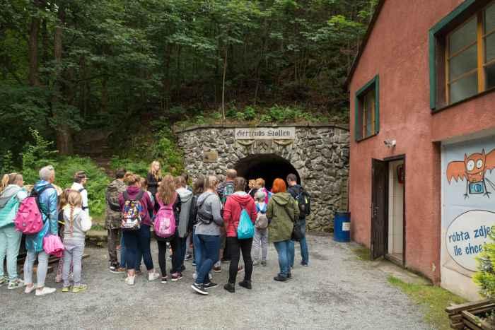 Eingang zum Gertruds Stollen in Reichenstein (Złoty Stok)