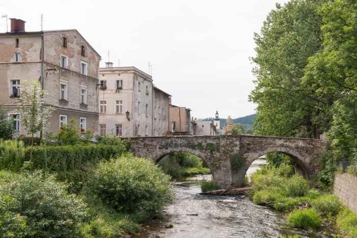 Landecker Biele und Johannesbrücke in Bad Landeck (Lądek Zdrój)