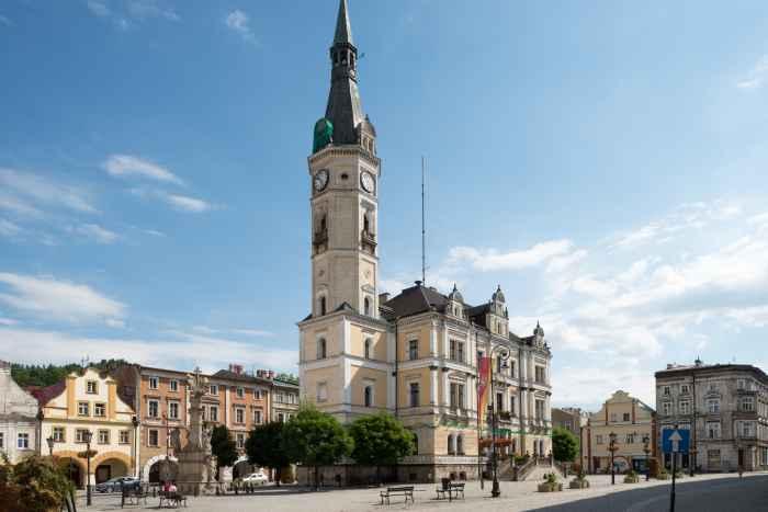 Rathaus von Bad Landeck (Lądek Zdrój)
