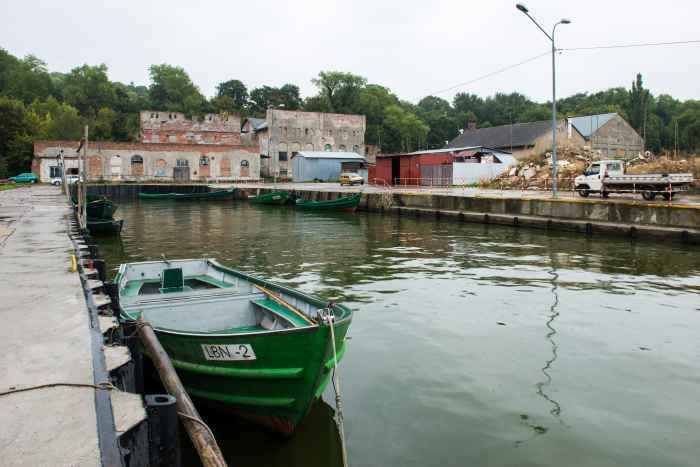 Hafen und Zementfabrik in Lebbin (Lubin)