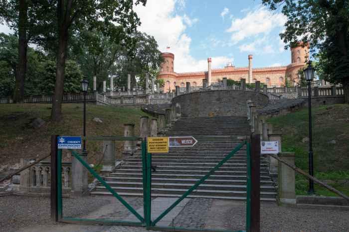 Terrassengarten im Schloss Kamenz (Kamieniec Ząbkowicki)