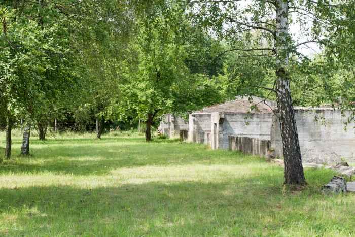 Überreste des Stalags 318/VIII in Lamsdorf (Łambinowice)