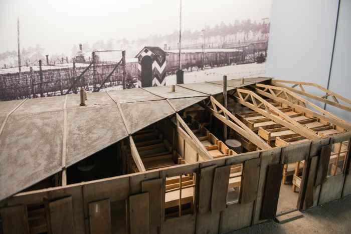 Modell einer Unterkunft für Kriegsgefangene im Museum Lamsdorf