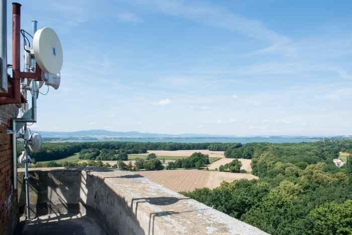 Blick vom Schloss in Richtung Ottmachauer Staubecken
