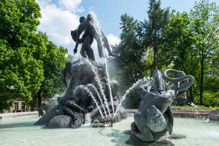 Springbrunnen Sinflut in Bromberg (Bydgoszcz)