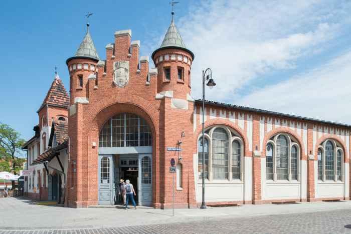 Historische Markthalle in Bromberg (Bydgoszcz)