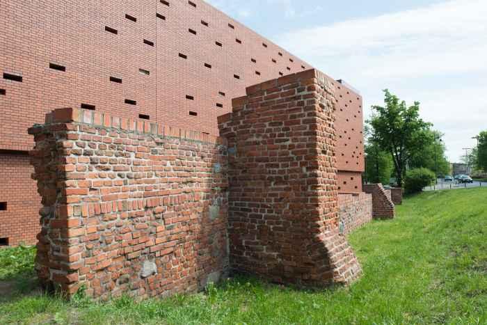 Fragment der Stadtmauer in Bromberg (Bydgoszcz)