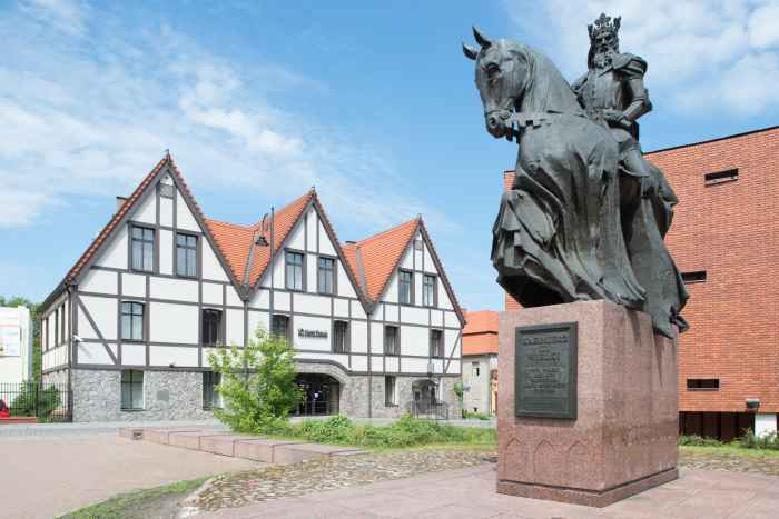 Denkmal für König Kazimierz den Großen in Bromberg