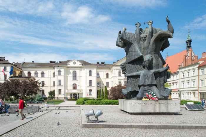 Denkmal für das Bromberger-Martyrium auf dem Marktplatz