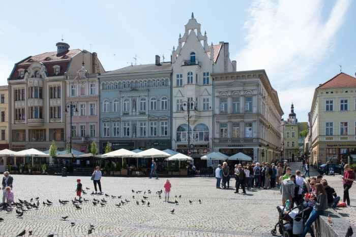 Bürgerhäuser am Marktplatz von Bromberg (Bydgoszcz)
