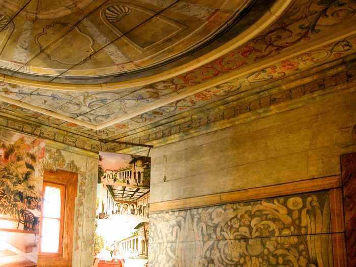 Wandmalerei im Papiermuseum in Bad Reinerz (Duszniki Zdrój)